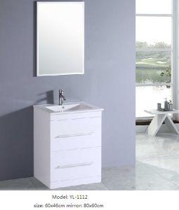 Bathroom Cabinet MDF with Veneer Ceramic Basin pictures & photos