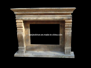 Antique Finish Marble Fireplace (3399) pictures & photos