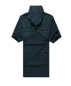 High Quality Plain Double Layers Stand Collar Men Polo Shirt pictures & photos