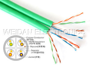 CAT6 UTP LAN Cable Duplex (WD1A-005) pictures & photos