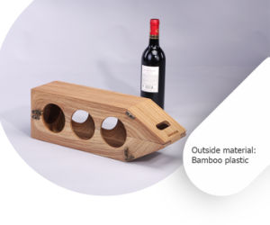 Retro Functional Decorative Bamboo-Plastic Wine Display Rack Box pictures & photos