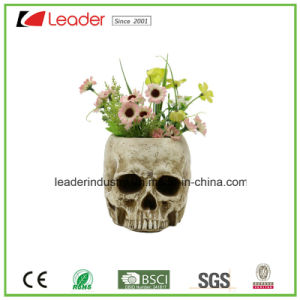 Garden Decorative Resin Skull Flowerpots for Outdoor Decoration pictures & photos
