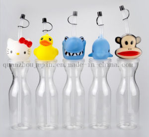 OEM Straw Yard Drink Cup with Cartoon Design Lid pictures & photos