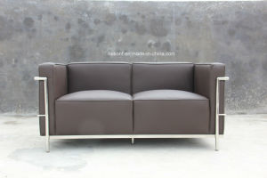 Modern Europe Design Steel Metal Leather Waiting Office Sofa (NS-D6212) pictures & photos