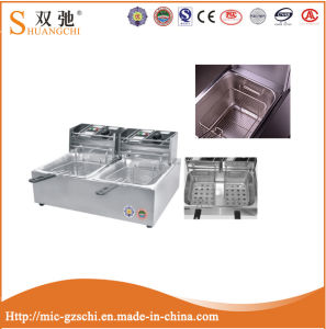 Electric Fryer with 2-Tank 2-Basket for Frying Food Machine pictures & photos