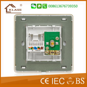 Wall Switch TV +Tel Socket with Ce, Saso, IEC Certificate pictures & photos
