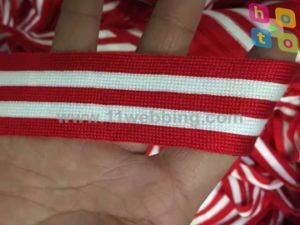 Striped Color Knitted Woven Elastic Garment Accessoies of Webbing pictures & photos
