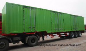 14.6 Meters Flatbed Container Van Type Semitrailer pictures & photos
