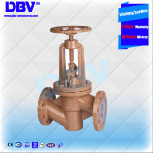Industrial Fluorine Lined Seated Globe Valve with Ce Approval pictures & photos