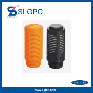 Plastic Pneumatic Muffler Silencer Orange Black Color SU