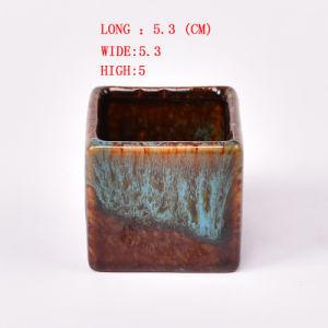 Flambe Glazed Ceramic Small Flower Pot, Bonsai Pots Wholesale pictures & photos