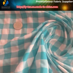 Polyester+Nylon Mixed Check Fabric, Crinkle Gingham Beach Pants Fabric (YD1122-Green) pictures & photos