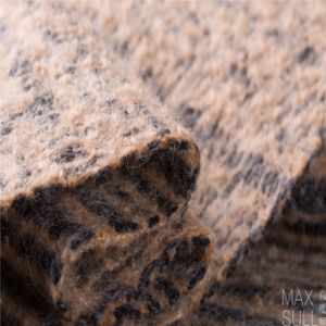 Jacquard Weave, Wool/Polyester Fabric for Winter Coat