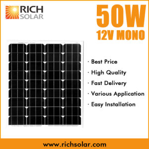 50W 12V Monocrystalline PV Solar Panel pictures & photos