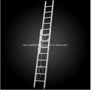 2 Section Multi-Functional Telescopic Aluminum Scaffold Ladder pictures & photos