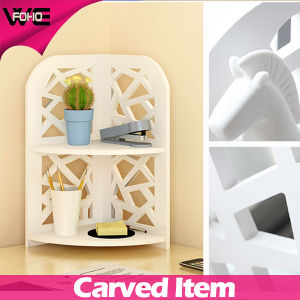 Desk Multifunction Corner Plastic-Wooden Small Shelf for Home pictures & photos