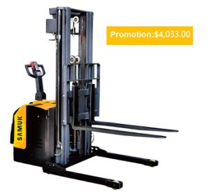 1-1.5ton Samuk Electric Stacker with Adjustable Wide Leg pictures & photos