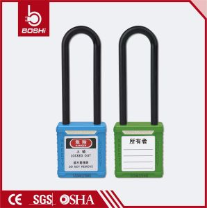Bd-G31 76mm Nylon Long Shackle PA Body Safety Padlock pictures & photos