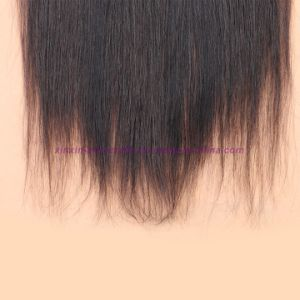 8A Full Frontal Lace Closure 13X4 with Bundles Straight Peruvian Virgin Hair with Closure Cheap Ear to Ear Lace Frontal Closure pictures & photos