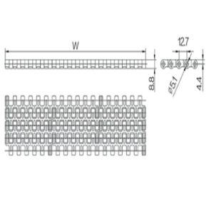 12.7mm Pitch Modular Belt (WZ-1270) pictures & photos