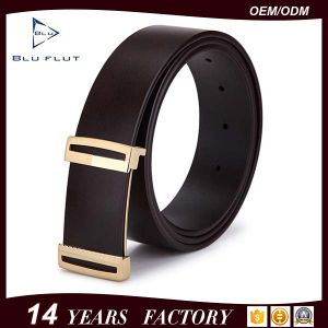 China Factory Wholesale Custom Mens Black Leather Waist Belts pictures & photos
