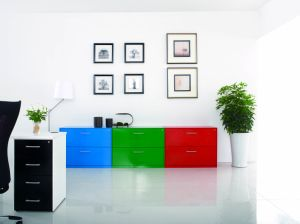 Four Drawers Lateral Filing Cabinet Customized Style Laboratory Office Furniture pictures & photos