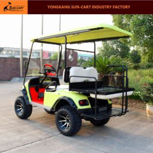 4 Passenger Electric Hunting Golf Cart (The rear seats can be fold up) pictures & photos