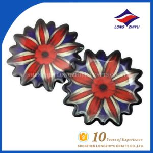 Custom Flower Badge Epoxy Souvenir Badge for Staff Student pictures & photos