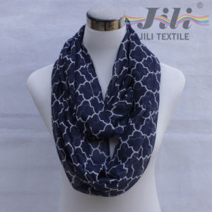 New Style Geometric Pattern Voile Scarf pictures & photos