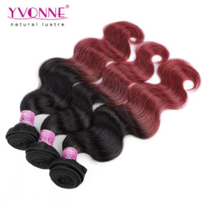 New Arrival Ombre Hair Weaves Body Wave Peruvian Human Hair pictures & photos