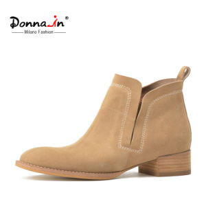 2017 Fashion Lady Suede Leather Flats Shoes Casual Women Boots pictures & photos