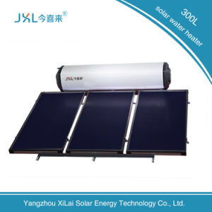 300L Black Flat Plate Non-Pressurized Solar Water Heater pictures & photos