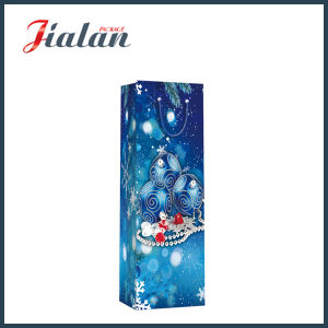 Cheap 4c Printed Christmas Wine Bottle Shopping Gift Paper Bag pictures & photos