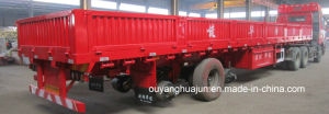 12.5 Meters 5700 Kg Gooseneck Semitrailer with Side Wall pictures & photos