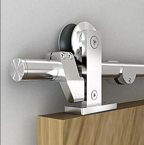 Stainless Steel Sliding Barn Wood Double Door Hardware Track Set pictures & photos