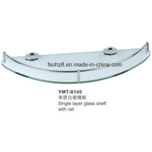 Oval Round Stainless Steel Bathroom Glass Shelf Rack (YMT-81) pictures & photos