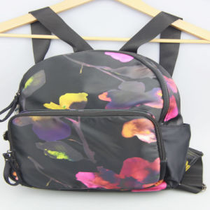 Lady Fashion Flower Printed Backpack Nylon Backpack Bag Supplier pictures & photos