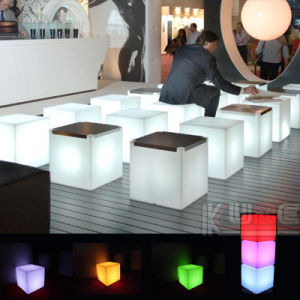 16 Color Changeable LED Cube Stool with Storage LED Cube pictures & photos