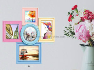 Plastic Multi Openning Collage Desk Table Mirror Photo Frame pictures & photos