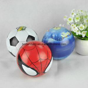 Custom Metal Christmas Decorations Ball Shape Tin with Strings pictures & photos
