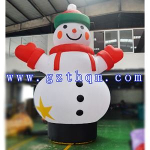 Inflatable Snow Man Inflatable Christmas Snowman Air Dancer Funny Inflatable Snowman for Advertising Christmas Decoration Snowman pictures & photos