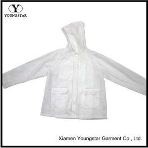 Clear Transparent PVC Rain Jacket Womens Lightweight Ladies Rainwear pictures & photos