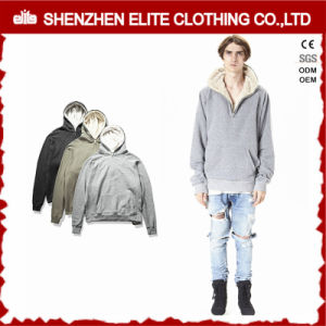 Winter Man Factory Price Casual Fleece Grey Hoodie (ELTHSJ-1161) pictures & photos