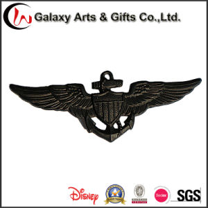 Black Painted Wholesale Promotional Cheap Custom Logo Metal Tin Paper Pin Button Badge pictures & photos