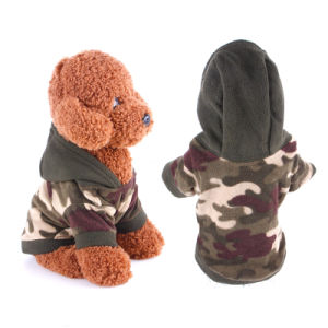 Army Camouflage Dog Hoodie Coat Pet Outdoor Clothes pictures & photos