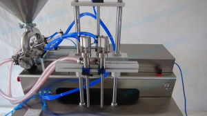 Semi-Automatic Two Nozzles Cream Filler with Work Table (FLC-250S) pictures & photos