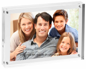 """5"""" X 7"""" Double Sided Magnetic Desktop Acrylic Picture Frame pictures & photos"""
