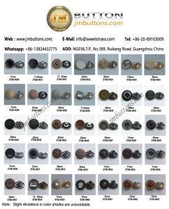 Shiny Gold New Design Jeans Denim Metal Button pictures & photos