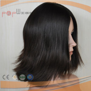 Virgin Human Heathy Hair Skin Top Black Color Women Wig pictures & photos