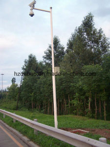Traffic Signal Galvanized Steel Camera Pole